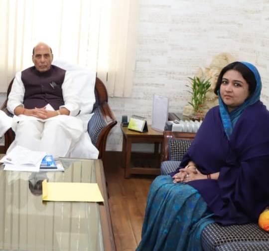 जशपुर से सीआरपीएफ कैंप नहीं हटाने की मांग, गृहमंत्री राजनाथ सिंह से मिली जशपुर रियासत की बहूरानी