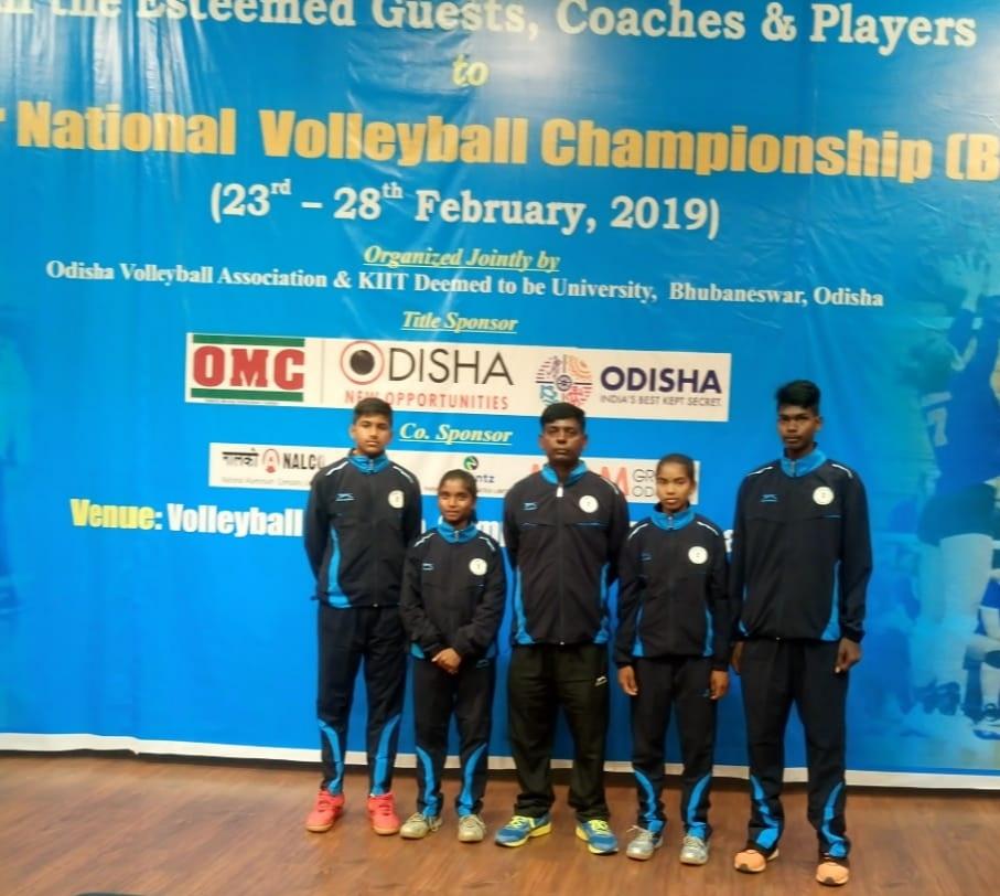 राष्ट्रीय वॉलीबॉल चैंपियनशिप के लिए दंतेवाड़ा जिले के 4 बच्चों का हुआ चयन