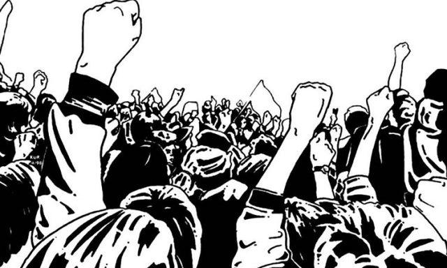 कांग्रेस सरकार के वादा खिलाफी से नाराज अनियमित कर्मचारियों के रैली को नियमित कर्मचारी संघों का समर्थन