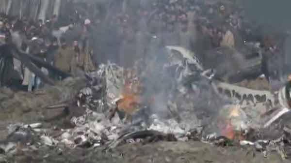 भारतीय वायुसेना का विमान दुर्घटनाग्रस्त