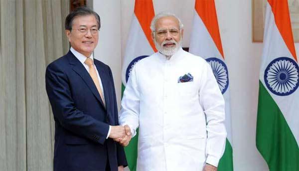 भारत और दक्षिण कोरिया के बीच छह एमओयू पर हस्ताक्षर