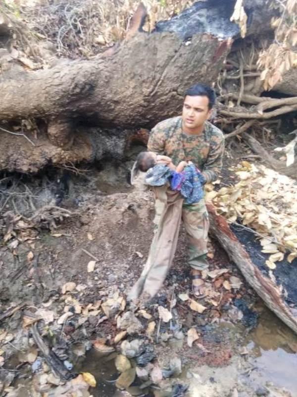 कलयुगी मां का कारनामा, लावारिस हालत में जंगल
