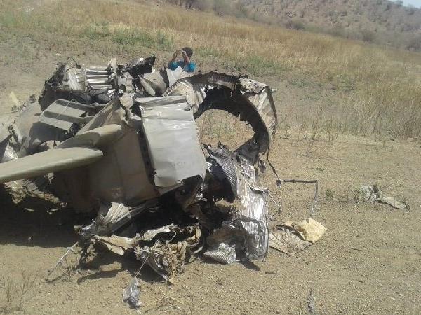 रुटीन मिशन के दौरान लड़ाकू विमान मिग 27 हुआ क्रैश