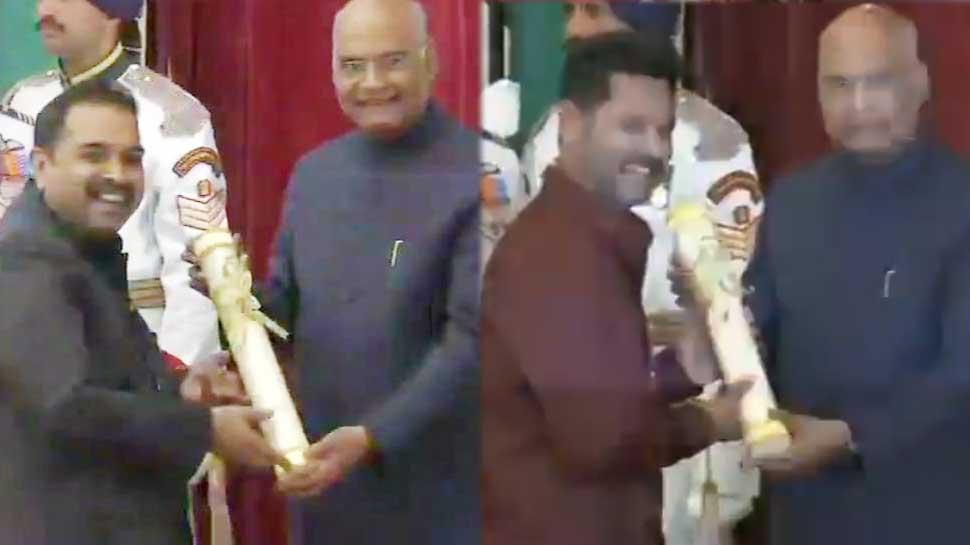 प्रभुदेवा और शंकर महादेवन को राष्ट्रपति के हाथों मिला पद्मश्री का सम्मान