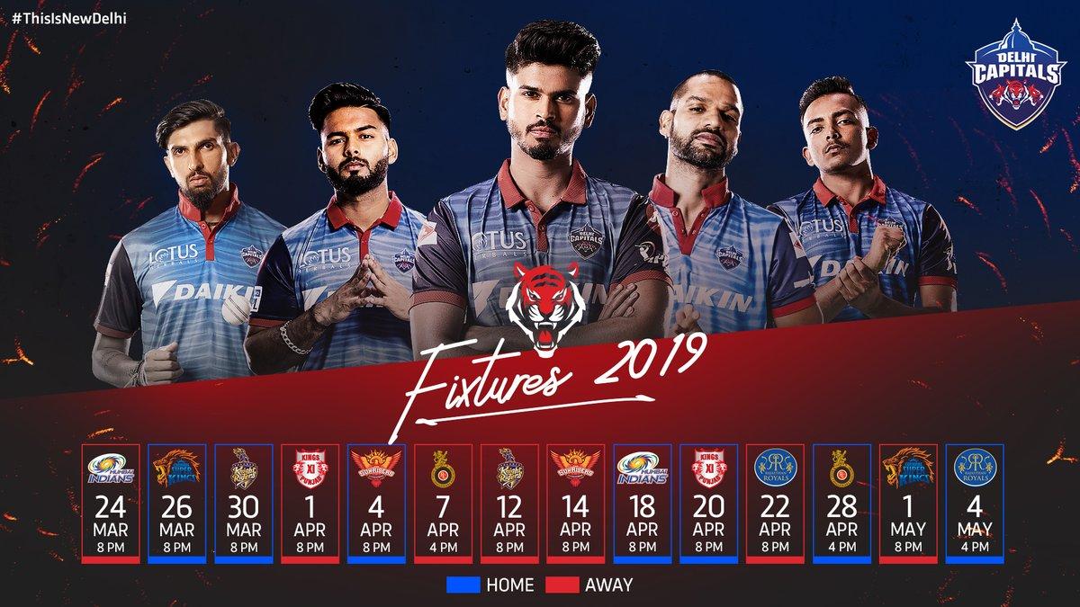 IPL 2019: BCCI ने जारी किया आईपीएल का पूरा शेड्यूल.