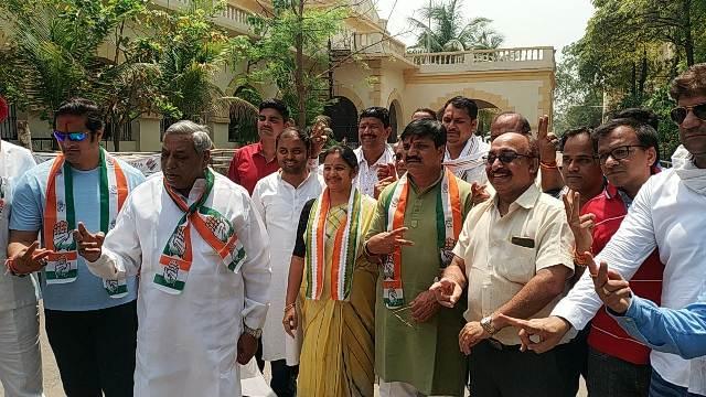रायपुर लोकसभा के भाजपा और कांग्रेस प्रत्याशियों ने भरा नामांकन