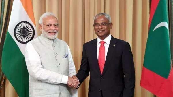प्रधानमंत्री ने मालदीव के राष्ट्रपति इब्राहिम मोहम्मद सोलेह को टेलीफोन पर बधाई दी