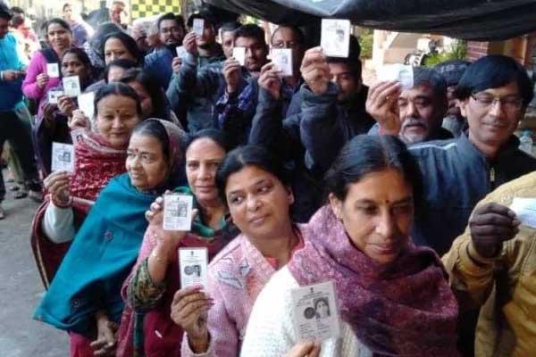 पुनर्गठन के बाद आंध्र प्रदेश में पहली बार हुए आम चुनाव में 79.74 प्रतिशत मतदान