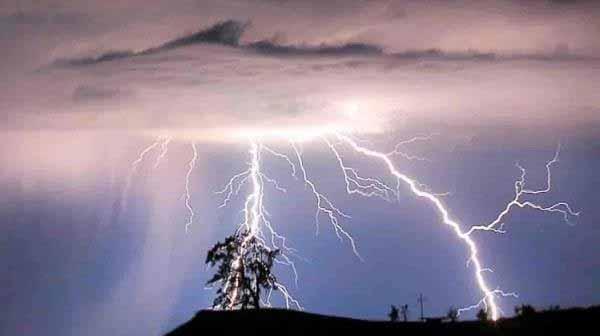 उप्र में भारी बारिश के दौरान बिजली गिरने से 35 लोगों की मौत हो गई