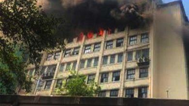 भायखला के जीएसटी भवन में आग दम लगा रहा दमकल विभाग