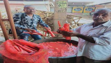 सब्जियों में रंग मिलाने वालों पर नगर निगम के अधिकारियों ने किया जुर्माना