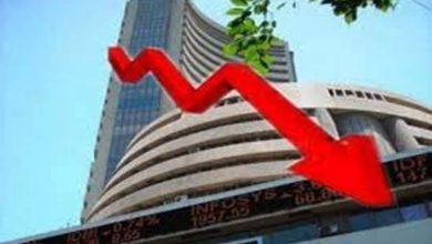 कोरोना वॉयरस के चलते गिरा भारतीय शेयर बाजार