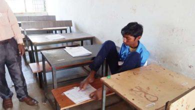 जगन्नाथ पैरों से क्यों लिखता है अपनी आंसरशीट