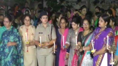 जांजगीर में महिला कमांडोज ने रात में सड़कों पर लगाई गश्त