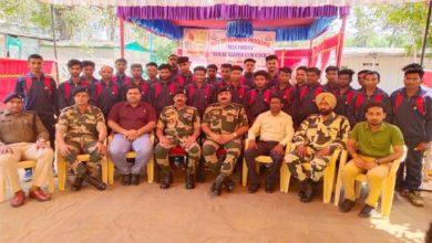 आदिवासी युवाओं को BSF ने दिया हॉउस कीपर कम कुकिंग का प्रशिक्षण