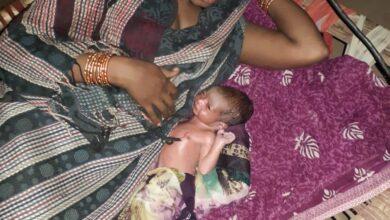 editorjee Pando woman give birth baby